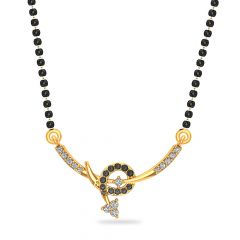 Glossy Finish Cupid Arrow Design CZ Studded With Synthetic Colour Stone Gold Tanmaniya