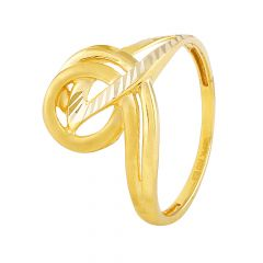 Diamond Cut Connected Gold Ring - GR1646