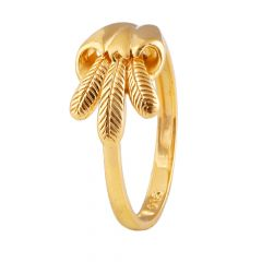 Leaf Design Gold Ring - GR1855