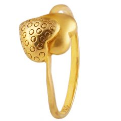 Heart Design Gold Ring - GR1900