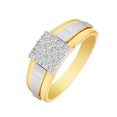 Stunning Cluster  Studded Diamond Mens Ring