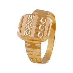 Rust Finish Diamond Cut Kids Gold Ring-GR215473