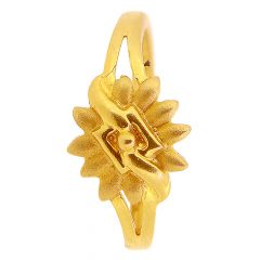 22kt Gold With Sand Blast Sunflower Rings - GRGB-2827
