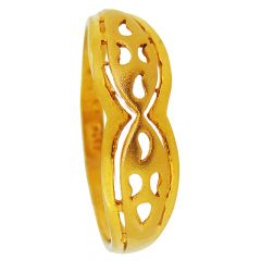 22kt Gold Glossy With Matte Finish Mango Cut Rings - GRGD-5648