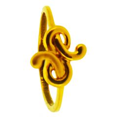 22kt Plain Gold Twisted Rings - GRGD-6761