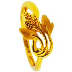 22kt Gold With Three Leaves Rings - GRGD-6903