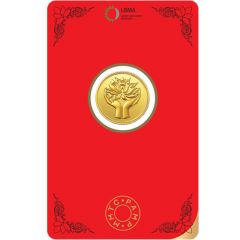 Lotus 4 Gms Fine 999 MMTC Gold Coin