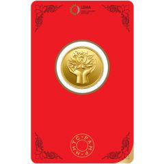 Lotus 5 Gms Fine 999 MMTC Gold Coin