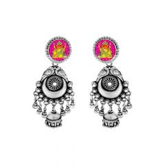Classy Enamel Lord Ganesha Peacock Earrings