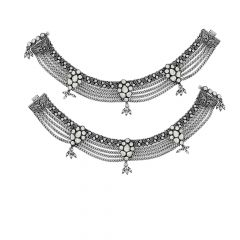Antique Classical Silver Anklet