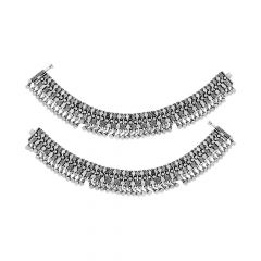 Antique Traditional Oxidize Silver Anklet