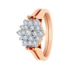 Stunning Cluster Dual Side Floral Diamond Ring