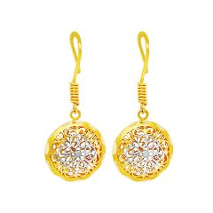 Elegant Cutout Gold Earrings