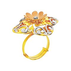 Blooming Floral Cutout Gold Ring