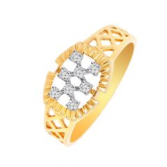 Designer Studded Diamond Mens Ring