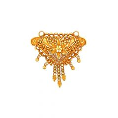 Traditional Textured Floral Gold Tanmaniya
