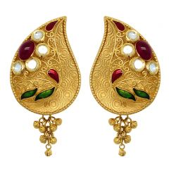 22Kt BIS Hallmark Gold Earrings-JM299E