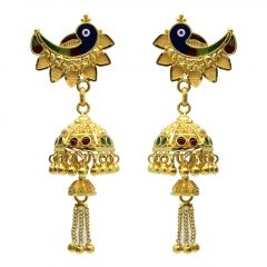 22kt Gold Jhumka Earrings - JM444E