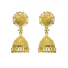 22kt Gold Jhumka Earrings - JM456E