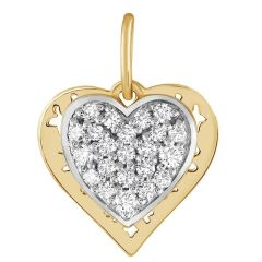 Hearty Diamond Pendant - JPF32440F