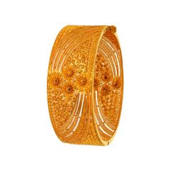 Traditional Filigree Paisley Gold Bangle