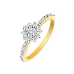 Sparkling Cluster Floral Diamond Ring