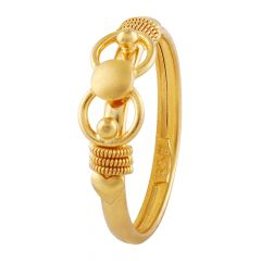 Spiral Satin Finish Gold Knot Ring - LR4610