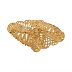 Matte Diamond Cut Filigree Ling Gold Ring - LR4633