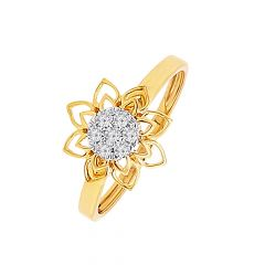 Blossom Cluster Floral Dimaond Ring