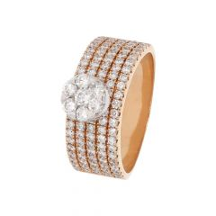 Glittering Multilines Band Design Diamond Ring-LRA1642-8045-8397-001