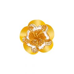 Blossom Floral Cutout Gold Ring