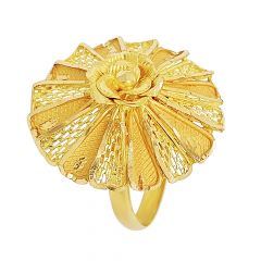 Blossom Textured Cutout Floral Gold Ring