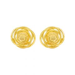 Elite Textured Spiral Gold Earrings