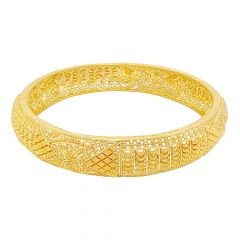 Ceremonial Embossed Textured Gold Bangle