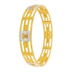 Traditional Textured Leaf Gold Bangle
