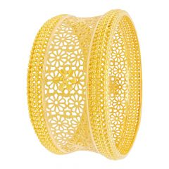 Classical Cutout Floral Gold Bangle