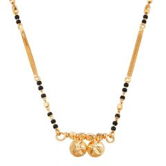 Two Vati Design Traditional Single Layer Short Mangalsutra-MS22-252