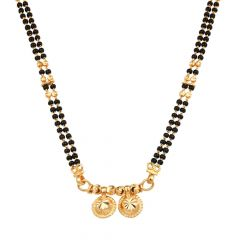 Two Vati Design Traditional Two Layer Short Mangalsutra-MS22-253