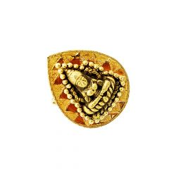 Traditional Textured Temple Gold Ring