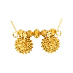Traditional Embossed Bead Floral Gold Tanmaniya
