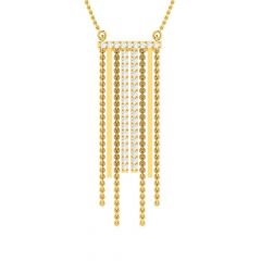 Glittering Radiant Tasselled Design Diamond Necklace