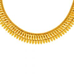 Traditional Gold Textured Necklace