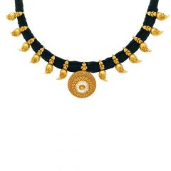 Traditional Textured Thread Necklace