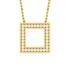 Sparkling Framed Forever Design Diamond Pendant