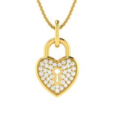 Sparkling Fastened Diamond Heart Pendant