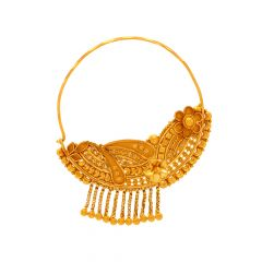Traditional Embossed Floral Gold Nosepin