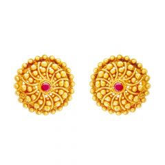 Spiral Ancestry Gold Earring
