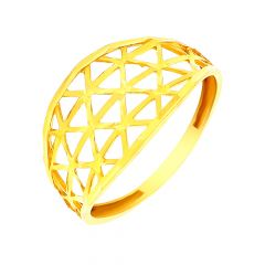 Delicate Cutout Gold Ring