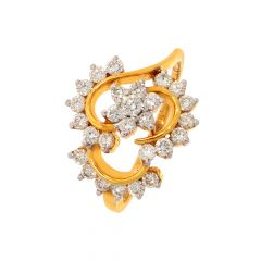 Sizzling Floral Diamond Ring