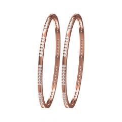 Dazzling Eternity Rose Gold Diamond Bangle